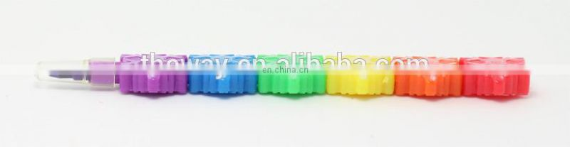 stacking crayon mult-color non-sharpen crayon snow shaped