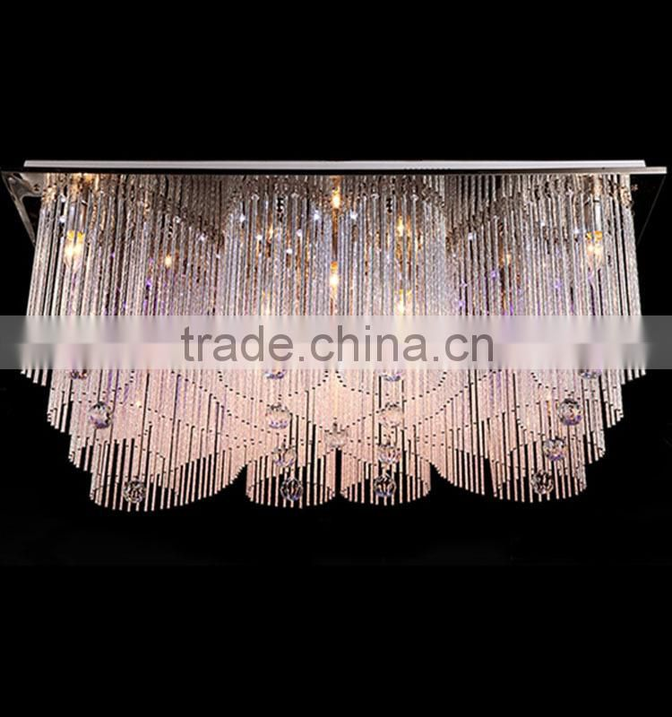 Modern 2015 new fancy led zhongshan with MP3 crystal ceiling lamp