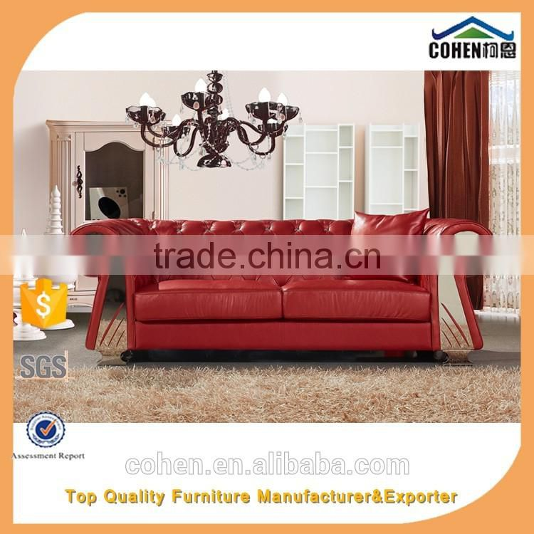 1+1+2+3 royal chesterfield red import real leather sofa SF026
