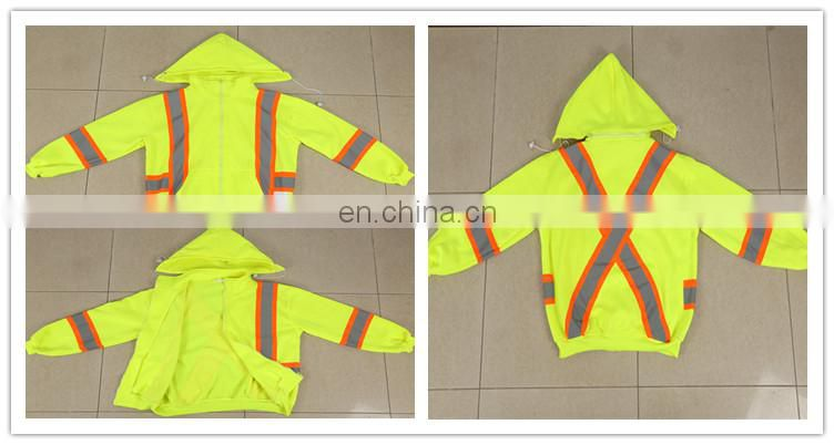AS 300D Oxford PU coat windproof reflective safety jacket
