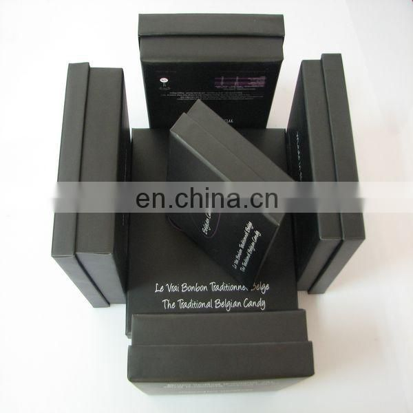 2013 New Bespoke Chocolate&gift Matt Black Gift Paper Box For Chocolate