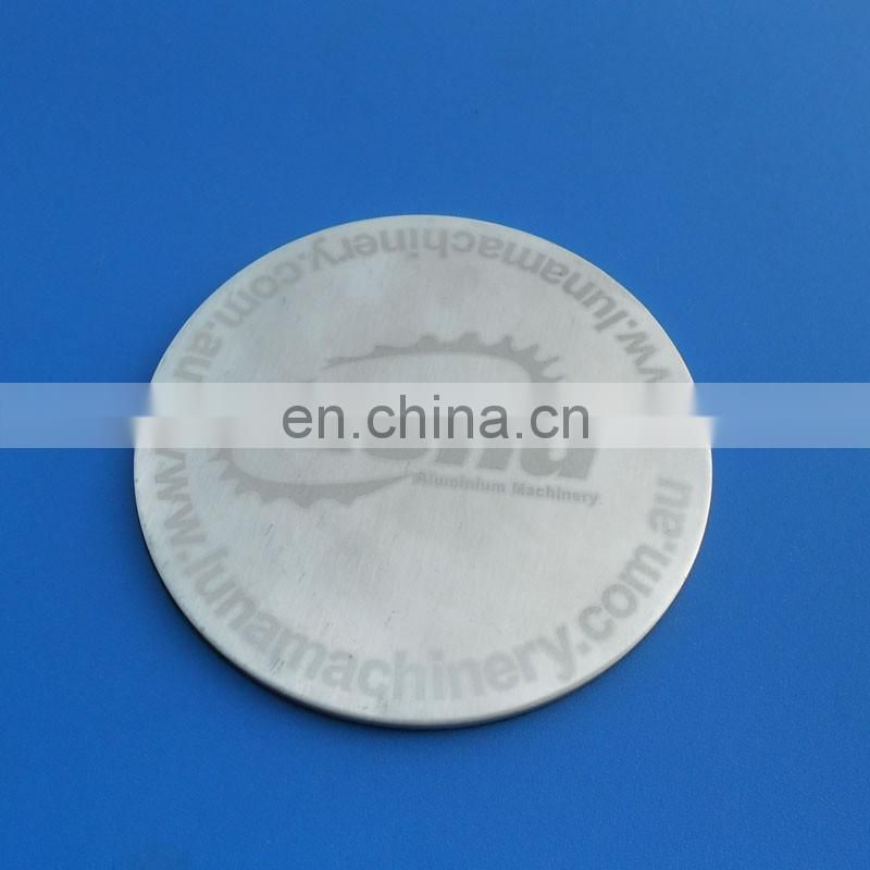 2017 high quality printing metal cup coaster round shape cup mat