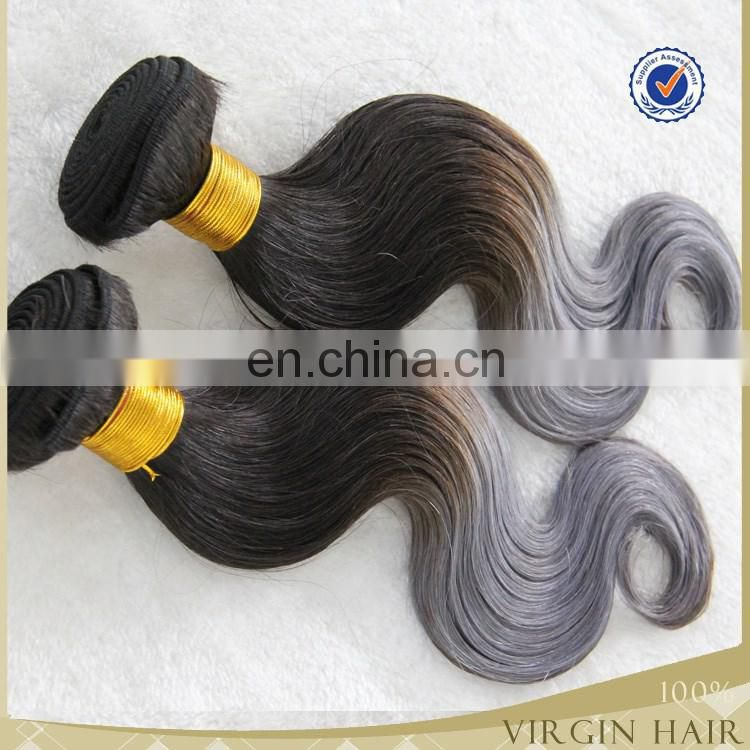 New arrival wholesale brazilian virgin 100% human ombre hair weaves