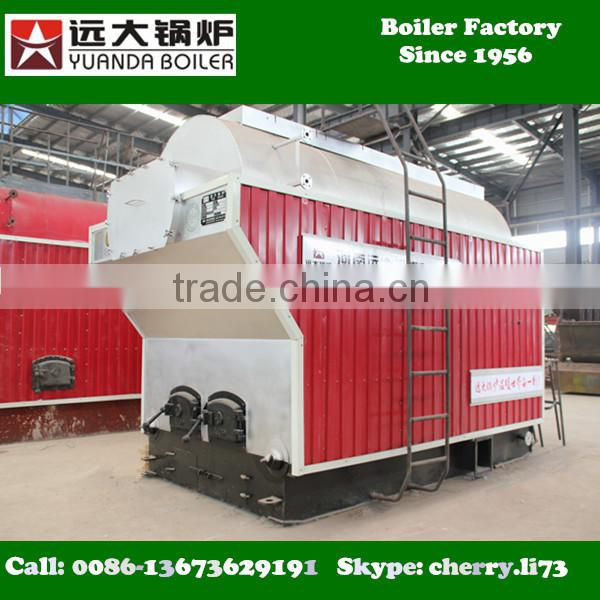 2016 high quality DZH series 2000kg/h wood burning boilers