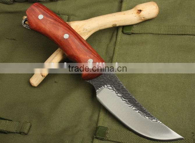 OEM Fixed Blade Knife Type and wood Handle Material Hunting Knife