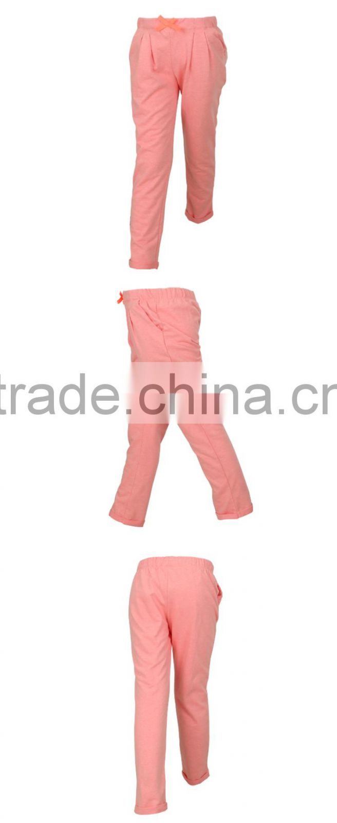 100% Cotton Girls Harem Sweat Pants for Wholesale with OEM ODM