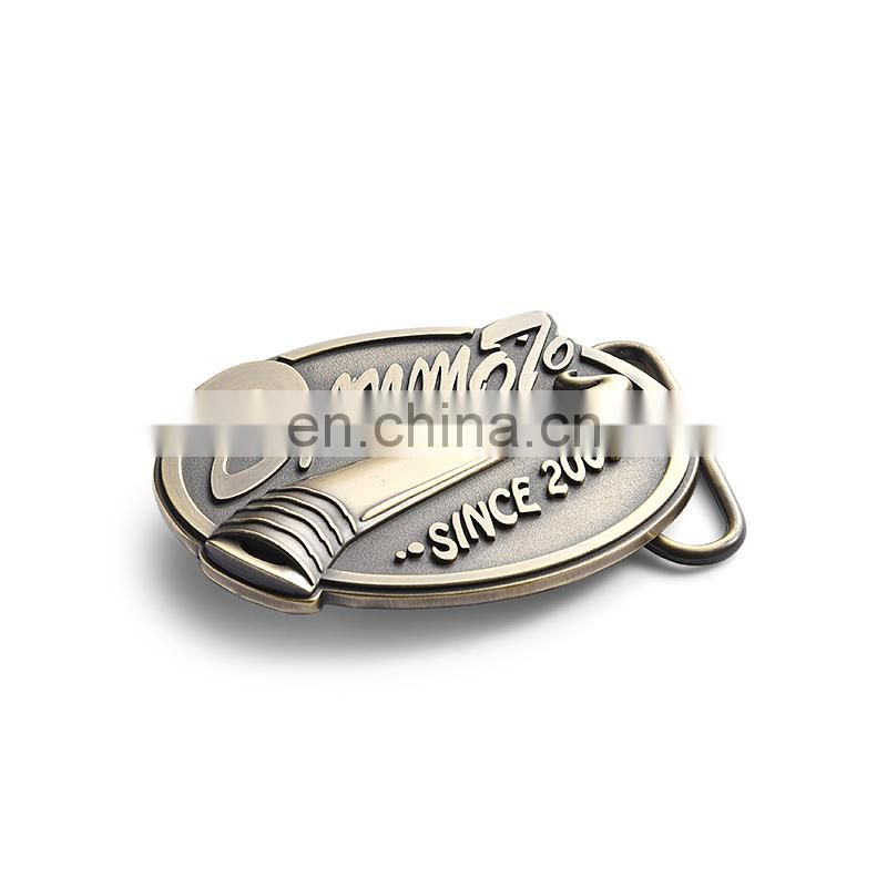 antique silver metal 2D cobra belt buckle