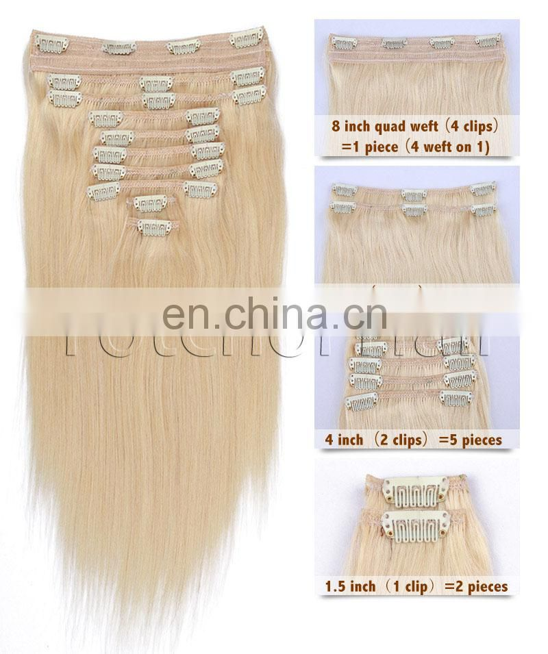100% human remy human hair 20 inch ponytail clip in hair extension