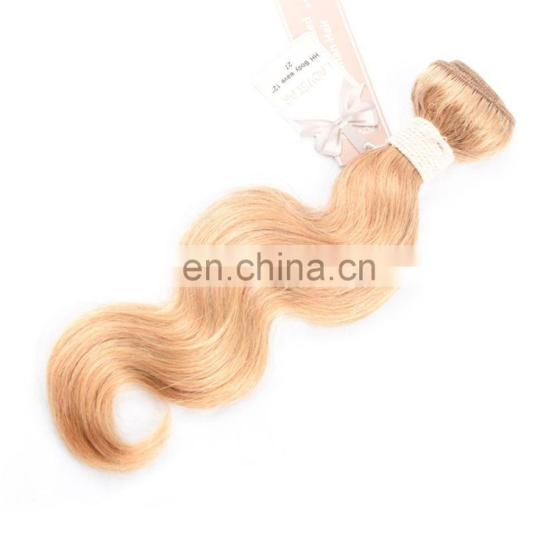 hengyuan ladystar blonde human hair grade 8a 100% blonde human hair weave fashion blonde hair