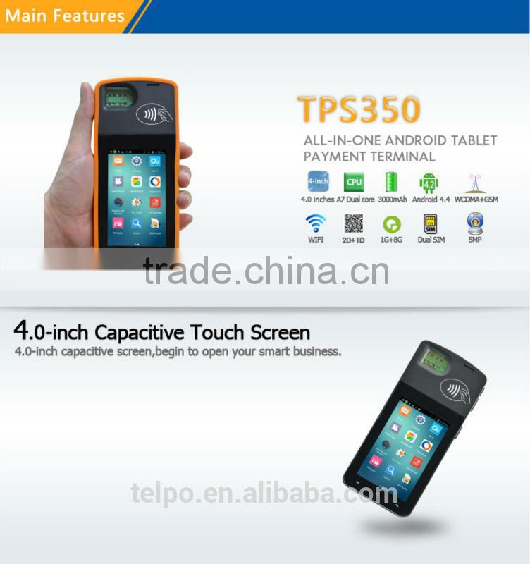 Telpo TPS350 cash payment kiosk of Handheld Android POS from