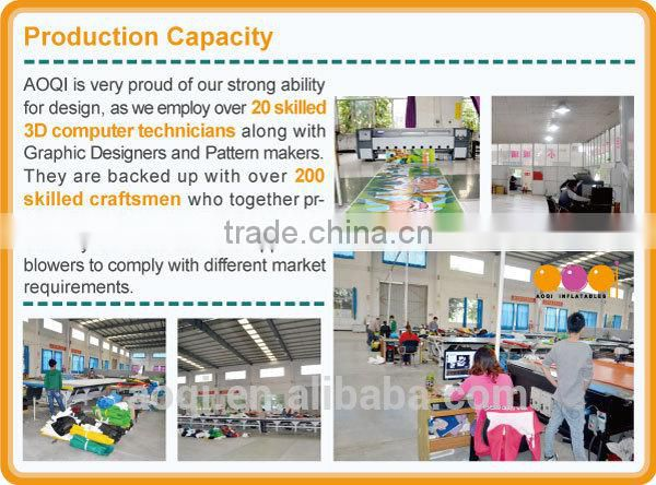 2017 AOQI design big discount inflatable adventure island dinosaur inflatable play land combos for child