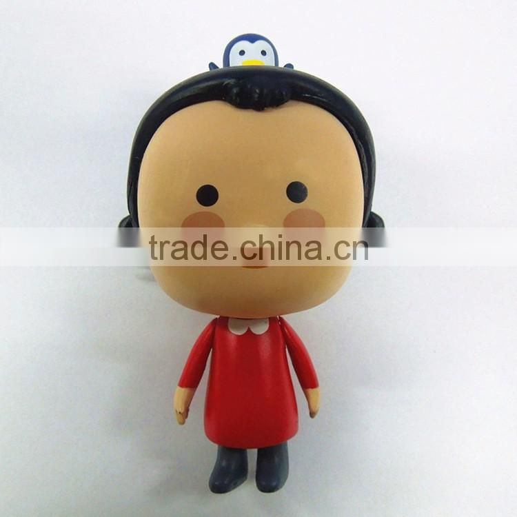 Custom gift item pvc anime cartoon sexy girl plastic doll