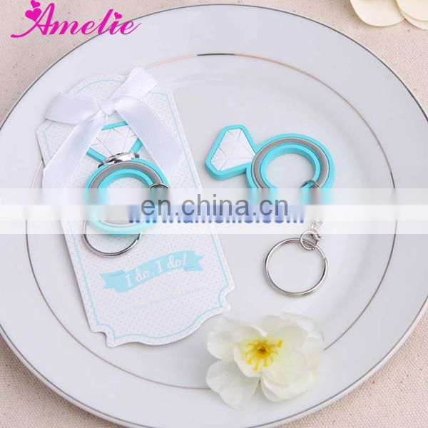 A08G14 With Blue Color Unique Wholesale Key chain Wedding Souvenirs