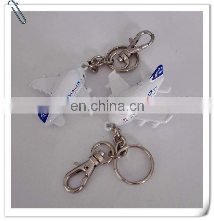 airline plane model promotion metal keychain pendants