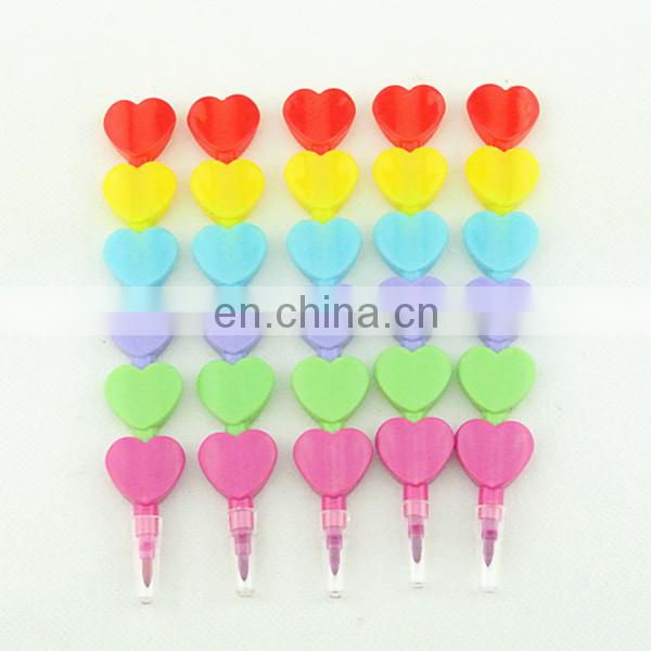 stacking crayon 5 colors butterfly shaped stacker crayon