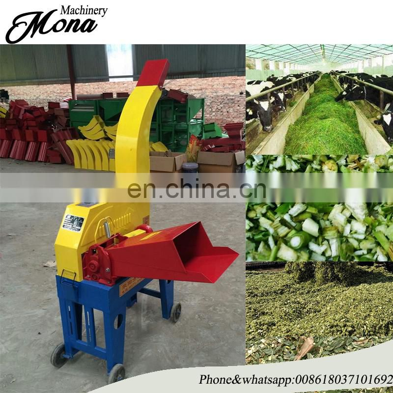 Home use feed processing grass shredder machine/corn/maize stalk chaff cutter equipment/dry grass cut kneading machine Image