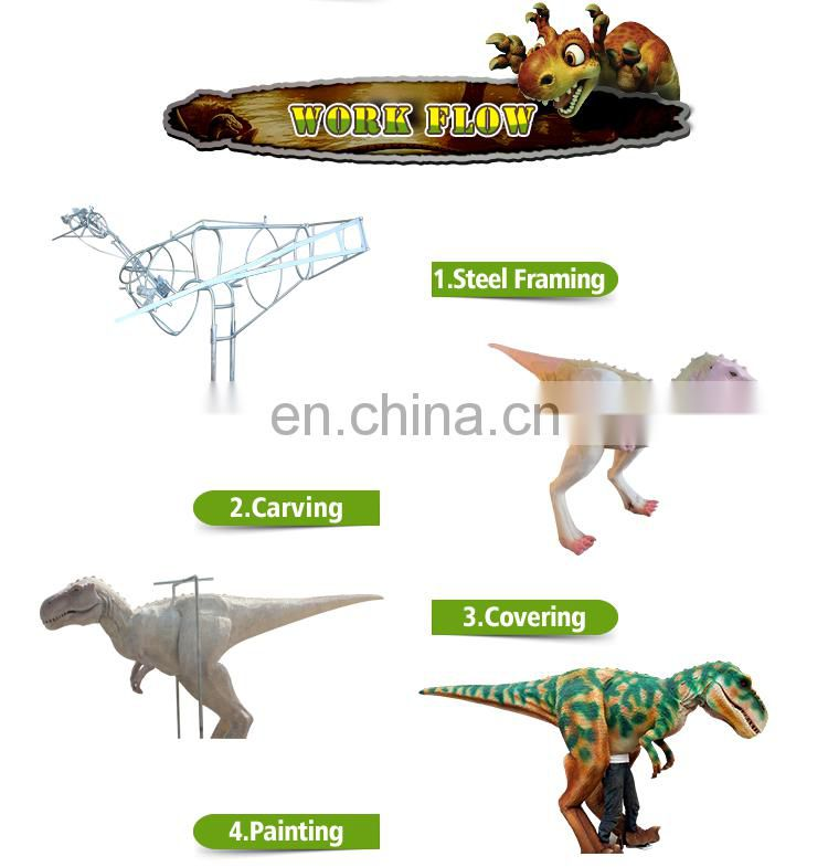 KAWAH China Supplier Professional Attractive Realistic Robotic Hand Dinosaur Puppet