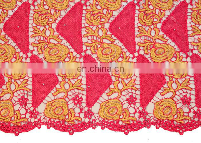african cord lace fabrics guipure lace dress in fushia pink