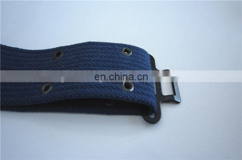 100% Cotton Navy Military Belt With Buckle