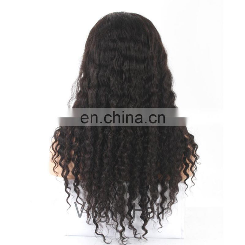 Human hair glueless lace front wig mongolian kinky curly hair wigs