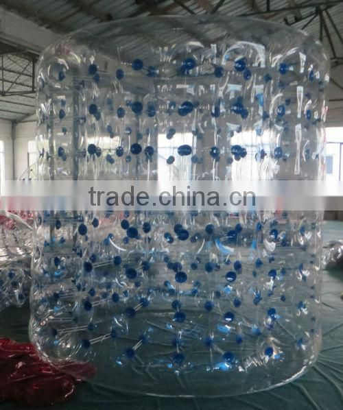 colorful inflatable water roller ball for kids and adults, inflatable human hamster ball