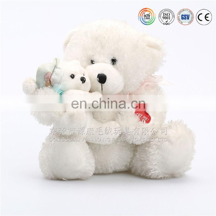 Custom mother bear holding a small baby bear