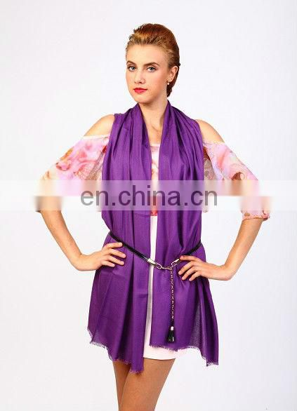 Hot Selling and Fashion Pure Color Lady Shawl