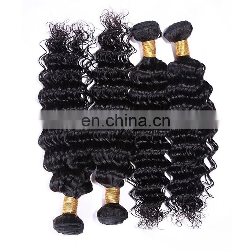 Highlighting black color human hair deep curly machine sewed hair extensions cheap peruvian hair extensions for black women