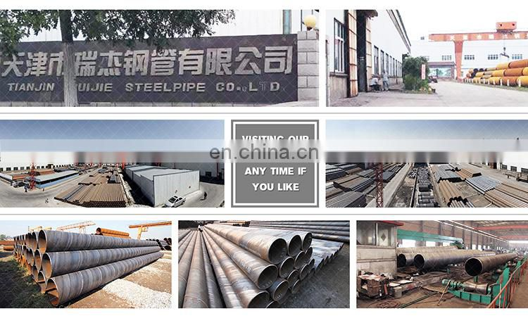 astm a53 black API 5L high quality spiral welded pipe agriculture used steel tube