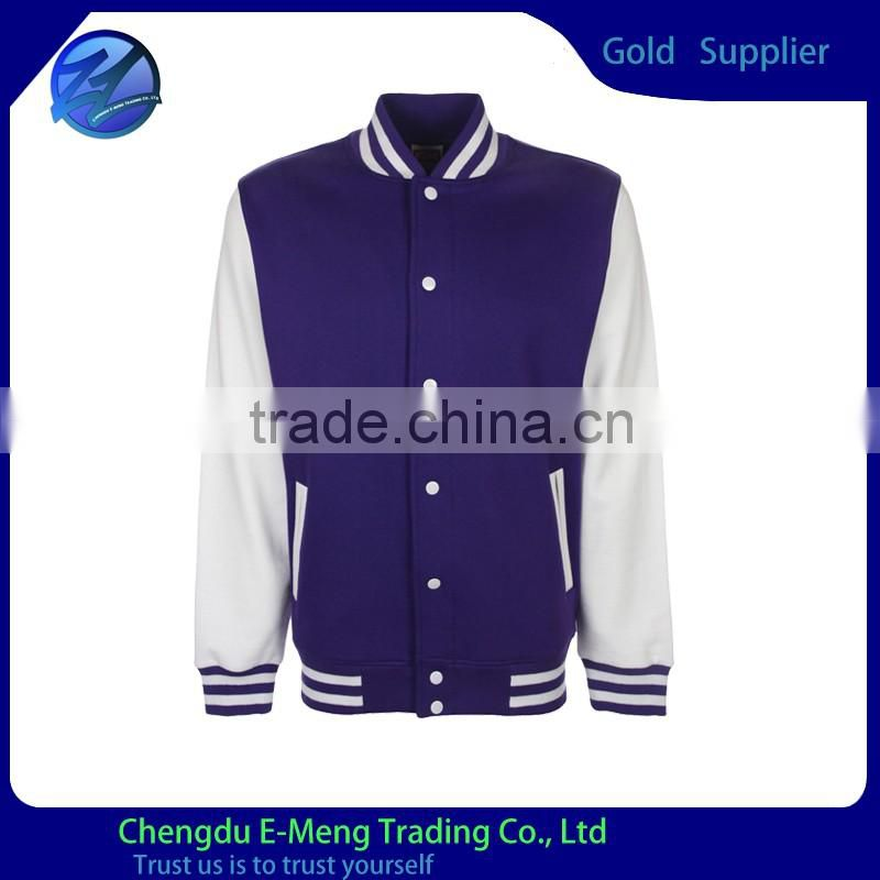 Wholesale New Style Plain Button Up Varsity Jacket Wool Varsity Jacket baseball Jacket