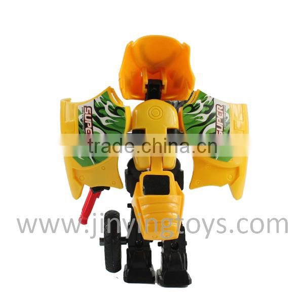 Funny motorcycle transform robot toy with EN71