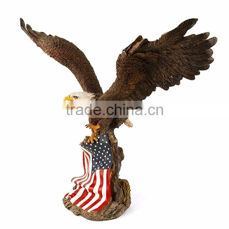 Custom unique cellectable resin american eagle statues