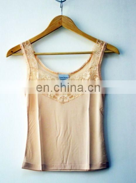 wholesale sexy fashion vests for girls--100% knitted silk