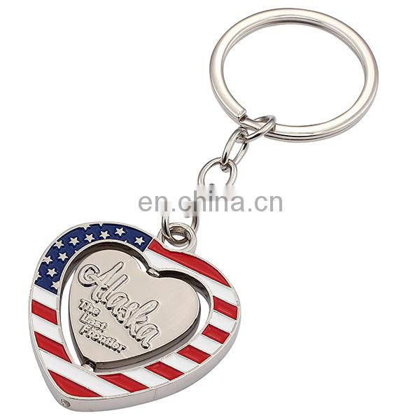 Top quality hot sales souvenir gifts USA metal keychain
