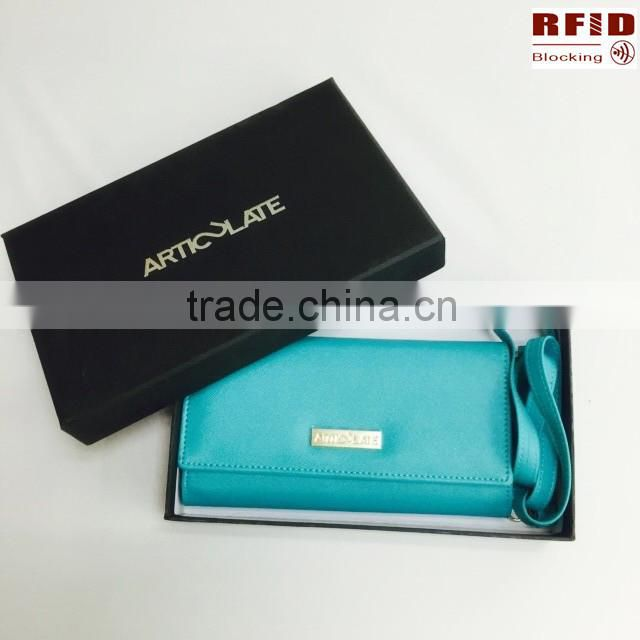 OEM High quality Women's RFID Blocking Clutch Wallet With Detachable Straps