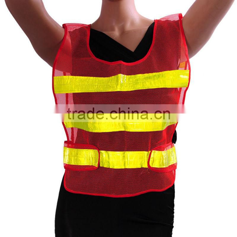 Hot Sale Red Yellow High Visibility Conspicuity Vest Warning Safety Working Clothes Reflective Safety Clothing