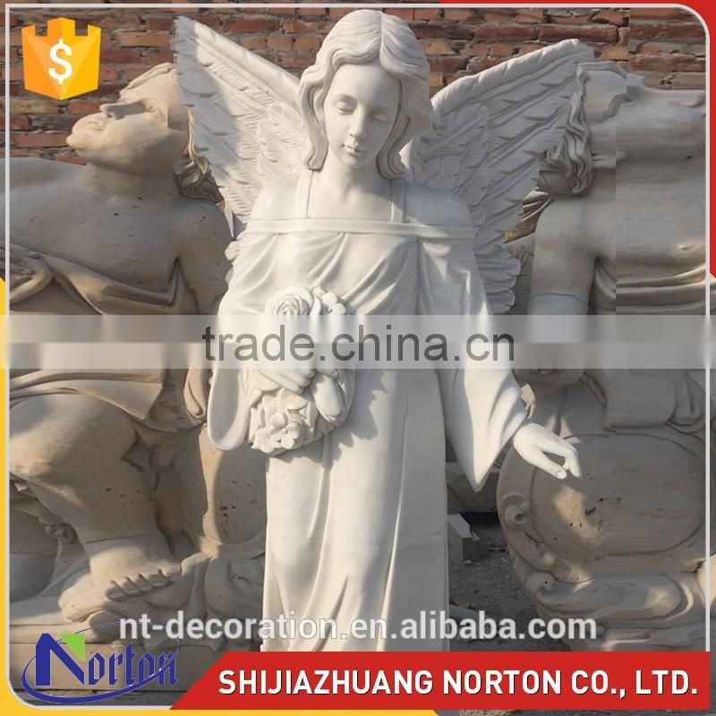 Customize white marble elephant statue for decor NTMS-020LI