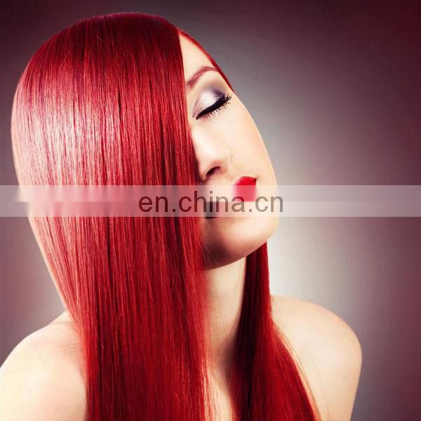 Machine double virgin remy human hair 3 bundles red brazilian hair weave