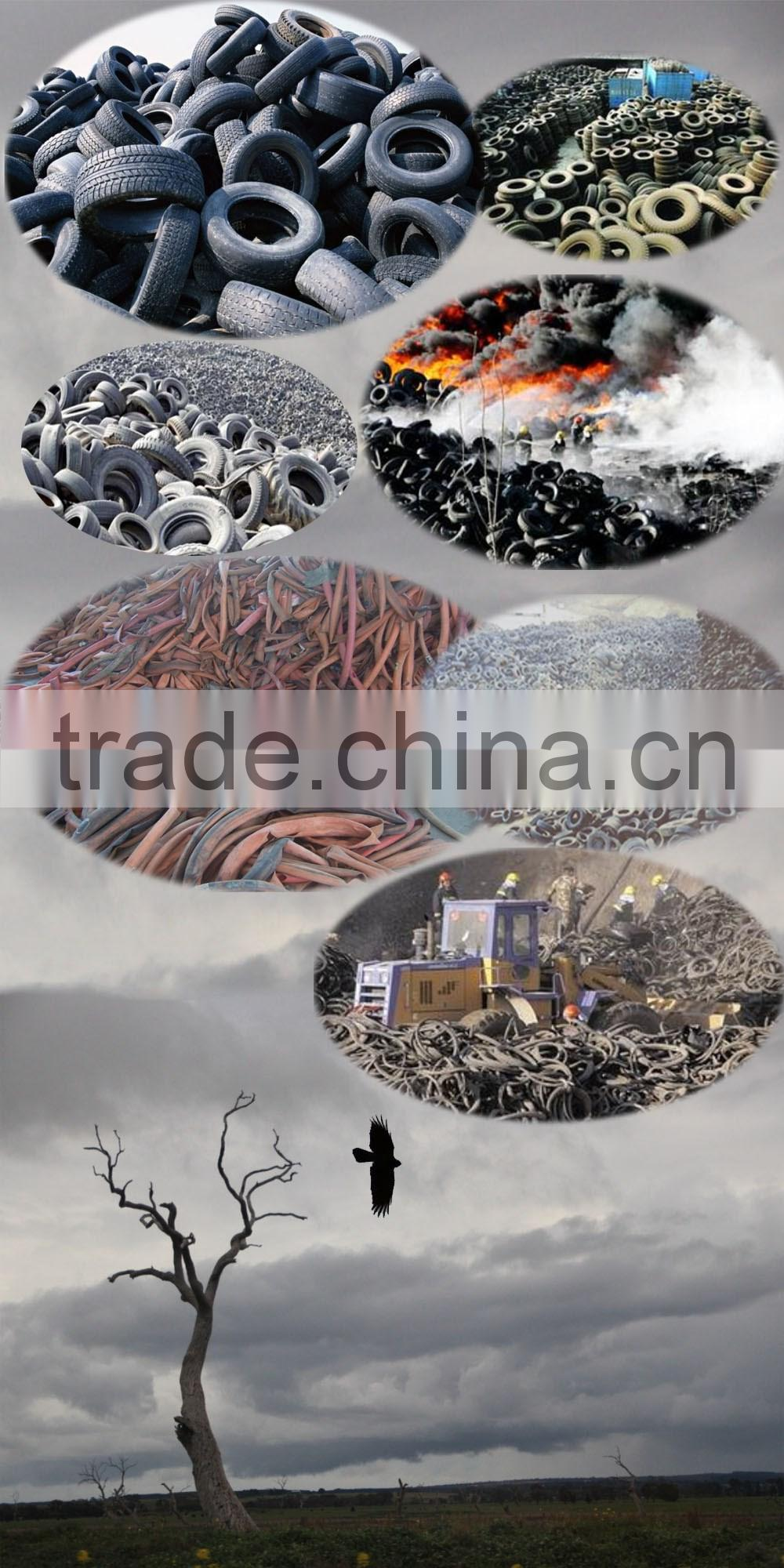 High Productivity Waste tire recycling rubber powder line_Used tire rubber powder machine