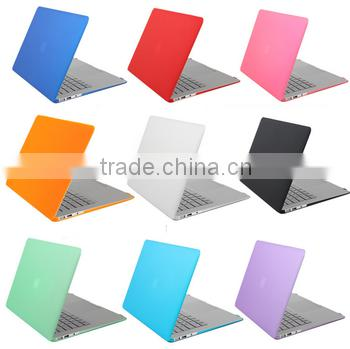 "3D print Rubberized hard shell plastic cover case for Macbook AIR/PRO 13"" transparant Matte hard shell cover for Macbook case"