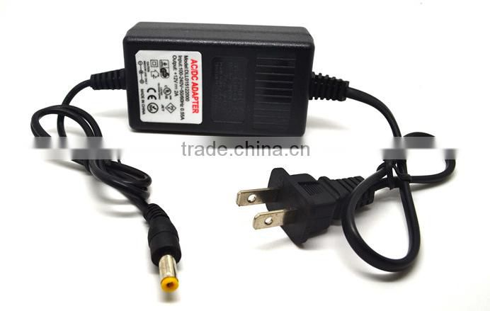 AC DC Adapter DC 12V 1A AC 100-240V Converter Adapter Charger Power Supply EU Plug Black Wholesale
