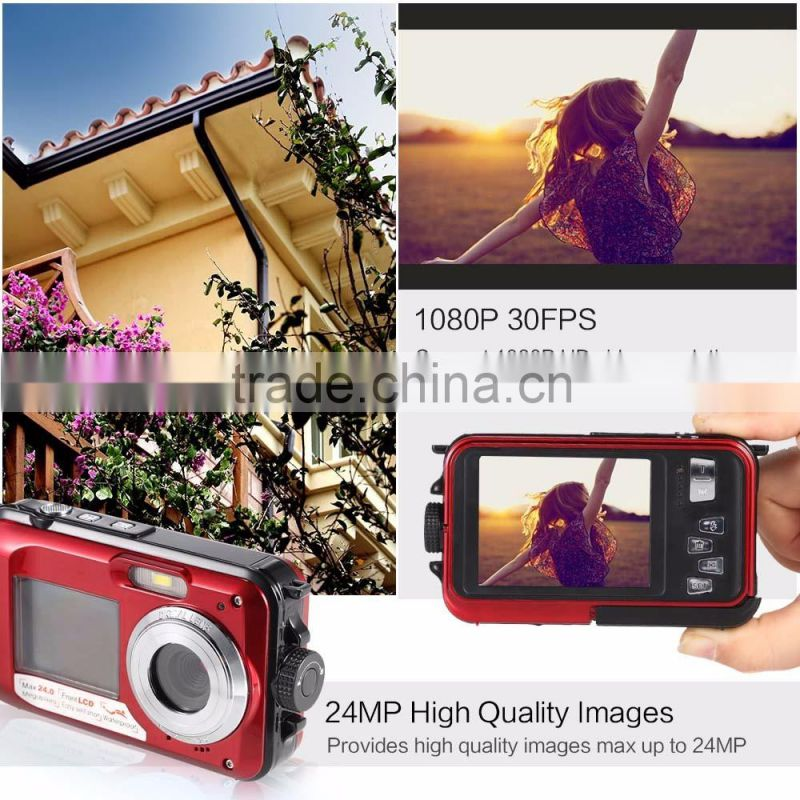winait 24mp waterproof camera with dual display