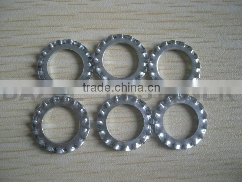 all size external teeth locking washer zinc plated