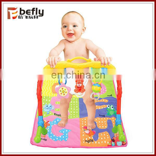 Colorful plastic baby play gym