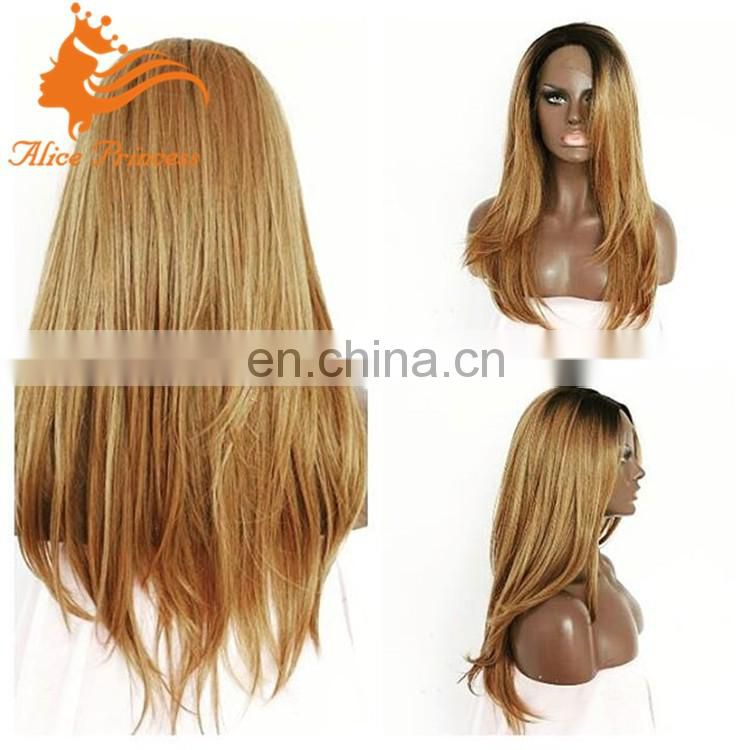 ombre blonde full lace wig 1B#T27# ombre blonde lace front human hair wigs bleached knots full lace wig