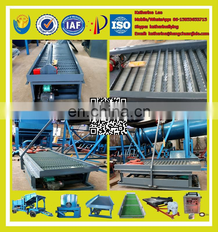 High Recovery Rate Gold Sluice with Rubber Mat for alluvial gold