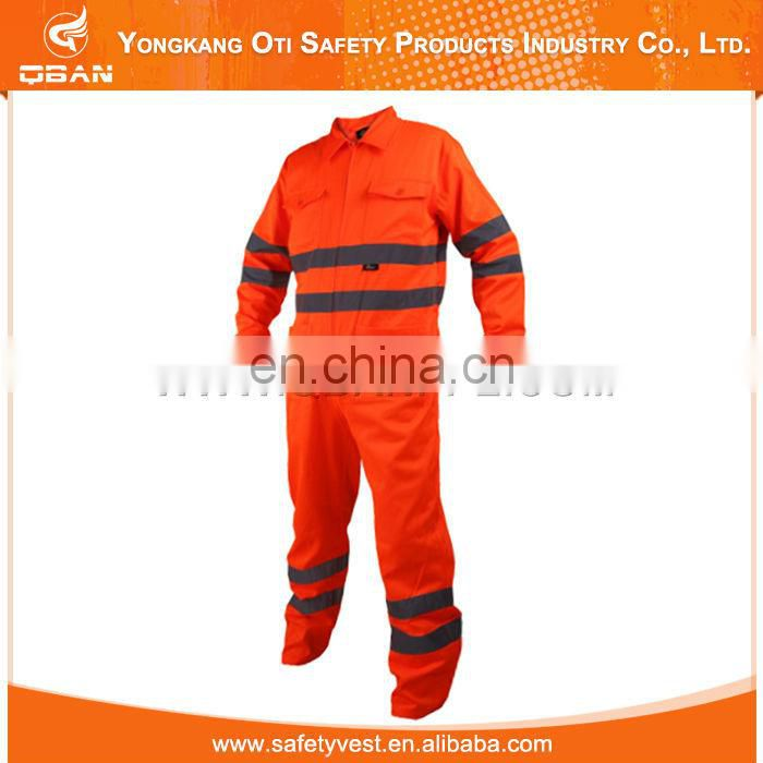 China supplier workwear 80% polyester reflective flyer' coverall