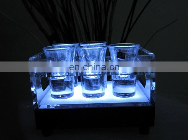 Transparent Acrylic wine cup tray / Acrylic shot glass tray /wine glass holder tray