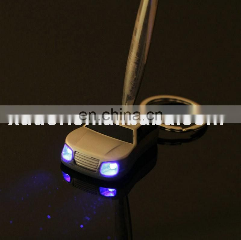 Promotional Gifts Customized Car Shaped Metal Led light Keychain Wholesale