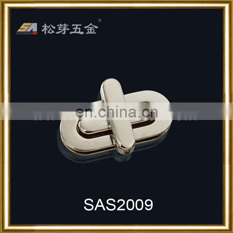 metal turn lock for lady handbag hardware fittings